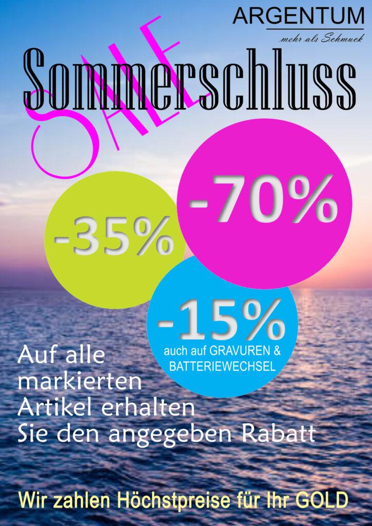 Sommerschluss SALE - Plakat A1